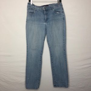 NYDJ | light wash jeans | 12p | straight leg